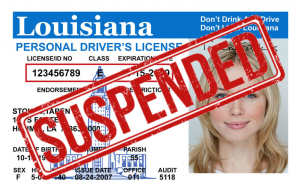 louisiana suspended drivers license fees