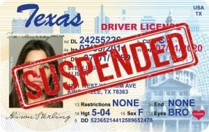 texas drivers license suspension reasons